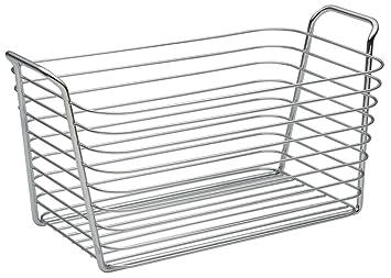 interdesign classico wire storage organizer basket for bathroom bath towels heath and beauty products