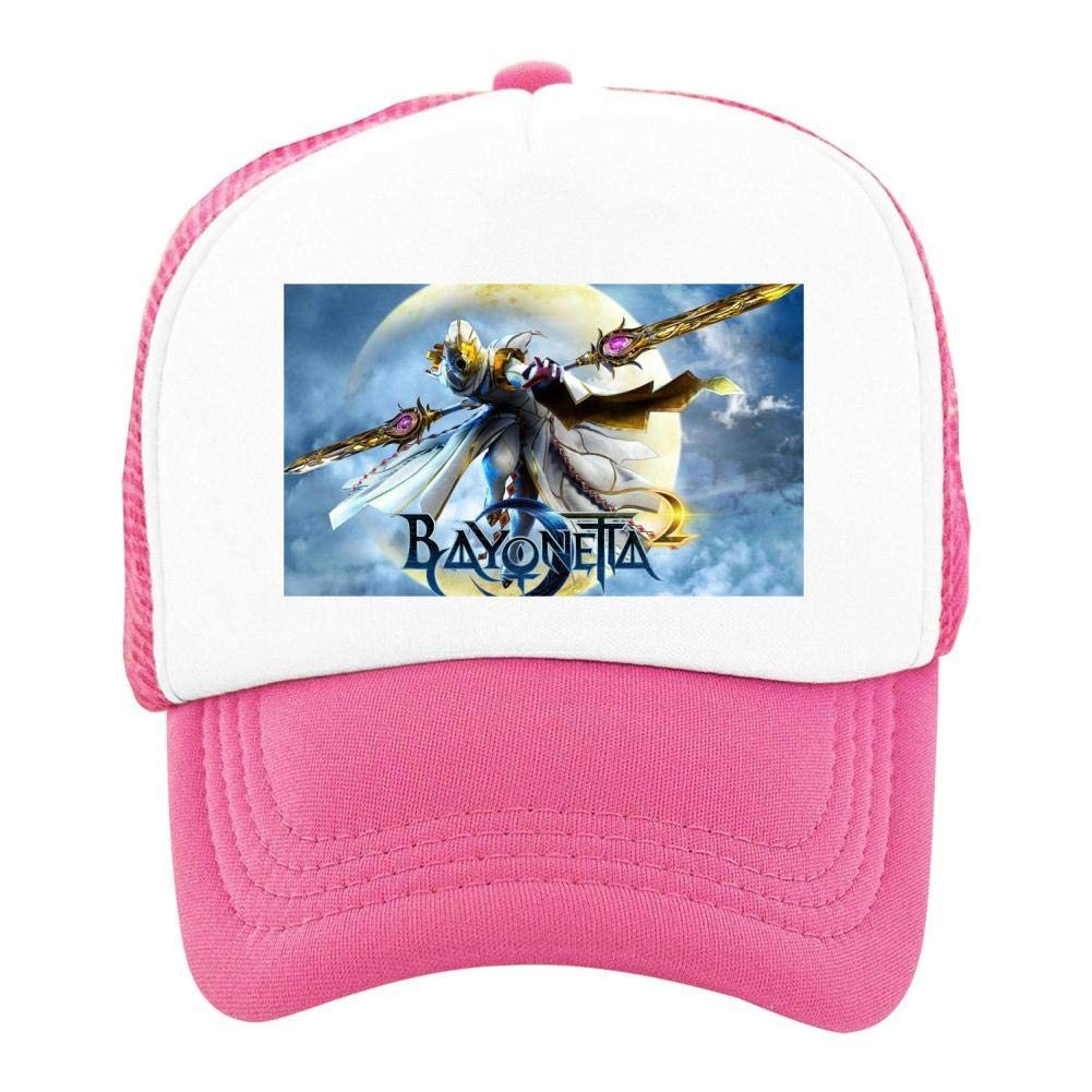 EThomasine Kids Girls Boys Mesh Cap Trucker Hats Bayonetta 2 Adjustable Hat Pink