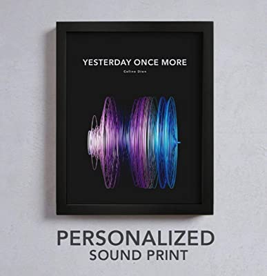 Personalized Wedding Gift - THREAD Custom Soundwave Print - The Perfect Present for the Bride and Groom or Anniversary - Customized Song Wall Art, Xmas Gifts