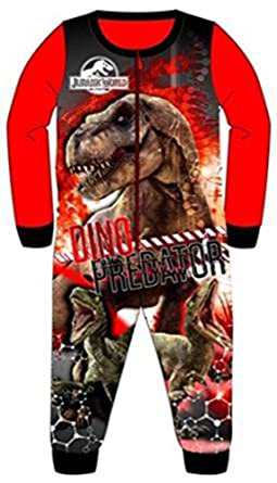 a1827425c Boys Official Jurassic Park Jurassic World Fleece Onesie Pyajmas Ages 2 3 4  5 6 7
