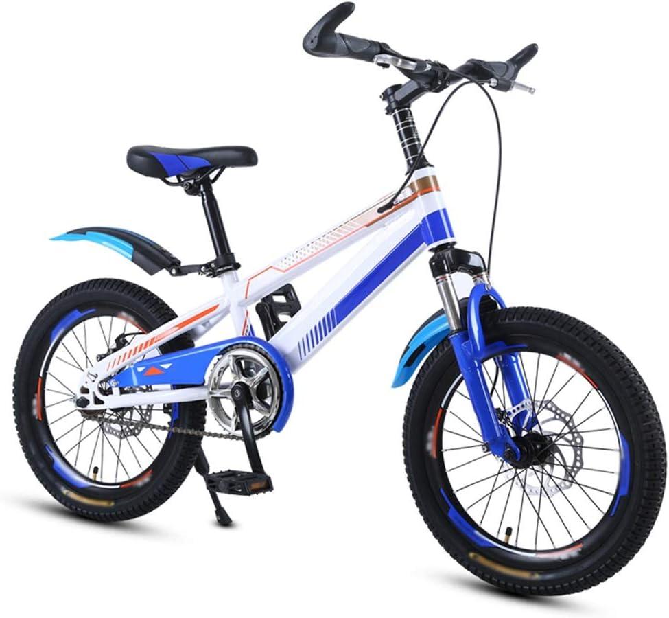 Axdwfd Infantiles Bicicletas Bicicletas para niños Bicicleta para niños de acero al carbono con rueda de entrenamiento Ciclismo para niños y niñas de 18/20 pulgadas, adecuado para niños de 5 a 11
