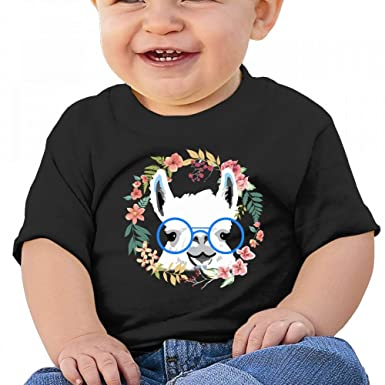 3eec1cb5a834 Amazon.com  Wodehous Adonis Funny Llama with Sunglass Baby Casual ...