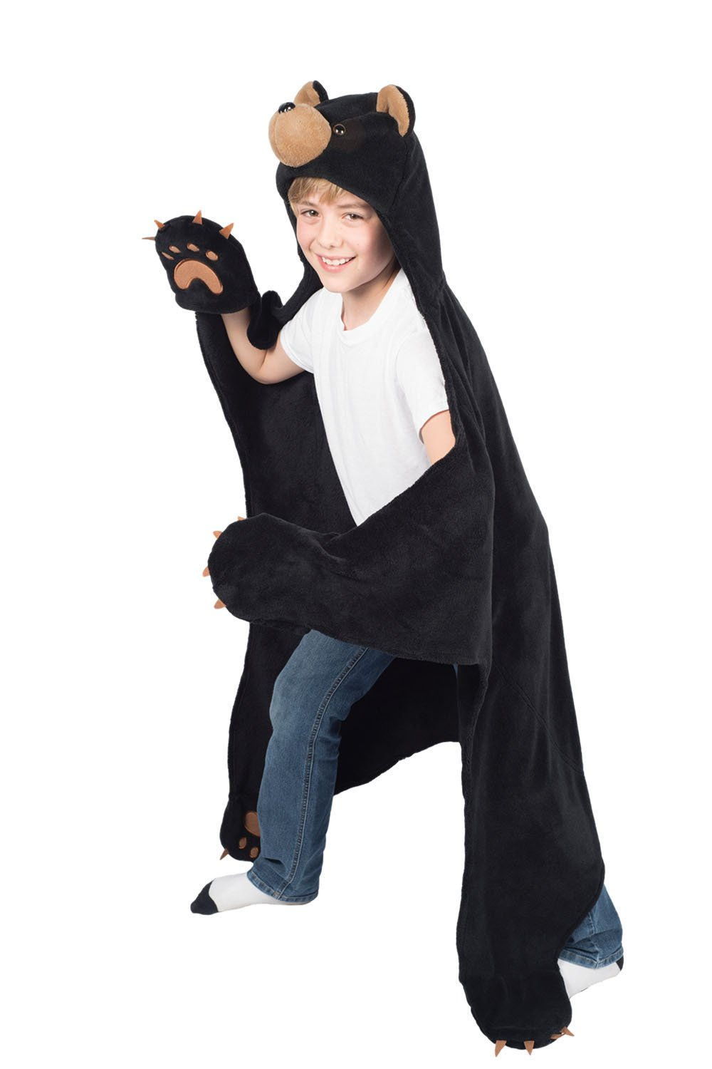 Cinder Black Bear Wearable Hooded Blanket Wild Things Fin Fun CT-BEBK-K