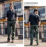 Mens Wild Cargo Pants Relaxed Fit Casual Cargo Work Pants,100% Cotton Cargo Trousers