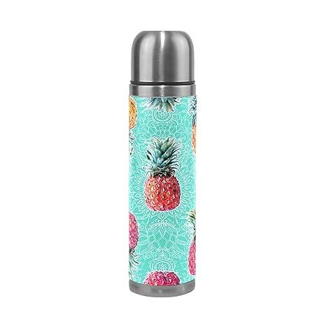 9e05d0948c Amazon.com: Pineapple Triangle Steel Water Bottle Leak-proof Double ...