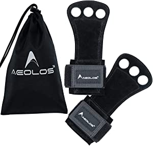 AEOLOS Leather Gymnastics Hand Grips-Great for Gymnastics,Pull up,Weight Lifting,Kettlebells and Cross Training