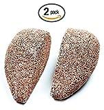 2Pack gotas forma piedra pómez, horsky Earth Lava Spa suave saludable Callus Remover de pie para piel seca Dead duro agrietada talón en pies y manos y exfoliación Scrubber