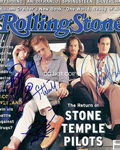 Signed Stone - Stone Temple Pilots Scott Weiland reprint signed autographed band Rolling Stone photo RP
