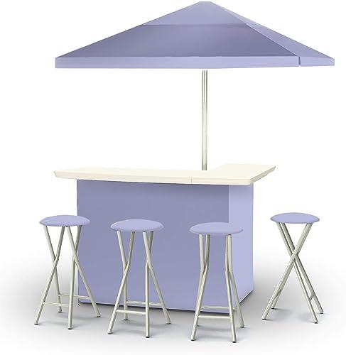 of Times 2003W1328 Portable Bar 6 ft Square Market Umbrella