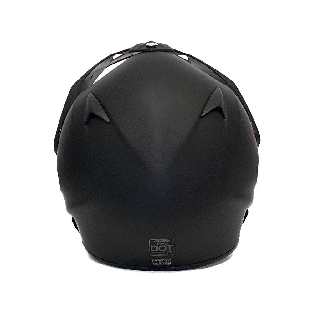 Helmet Dual Sport Off Road Motorcycle Dirt Bike ATV - FlipUp Visor - 27V (L, Matte Black) by MMG (Image #5)