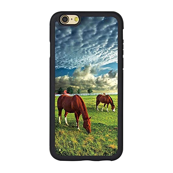 online store 2fa91 878f6 Horse Case for Iphone 6s,Horse Theme TPU Custom Iphone 6 & 6S Case Full  Protection Cover