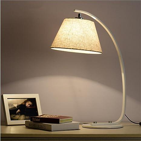 modern fabric desk lamp light reading study classic rural creative