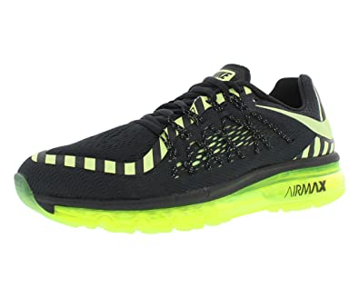huge discount 633c8 8b281 Nike Men s Air Max 2015 Anniversary Running Shoes, Black Liquid Lime Dark  Grey