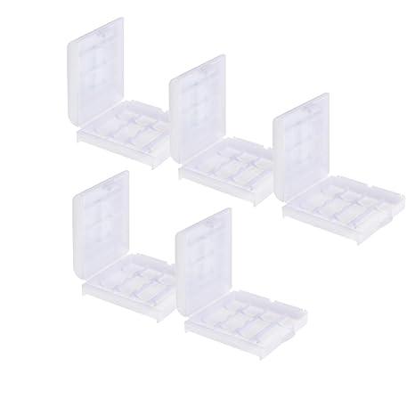 Caja de almacenamiento para pilas recargables Estuche casos ...