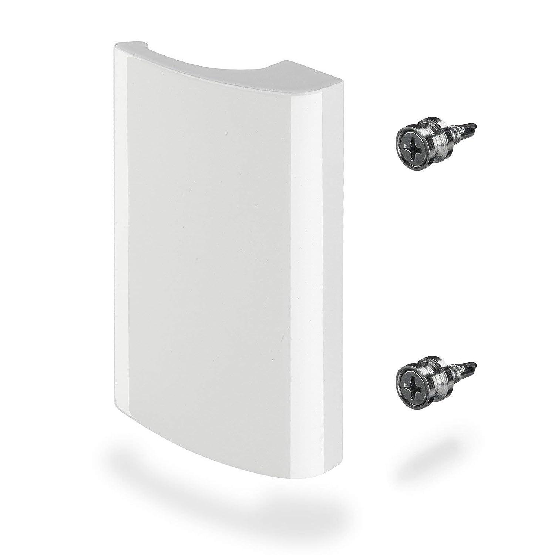 82 x 52 x 20 mm//Blanco Tirador a Tirar de SO-TECH/® 4 x Tirador de Porte Balc/ón SEJA Alumino