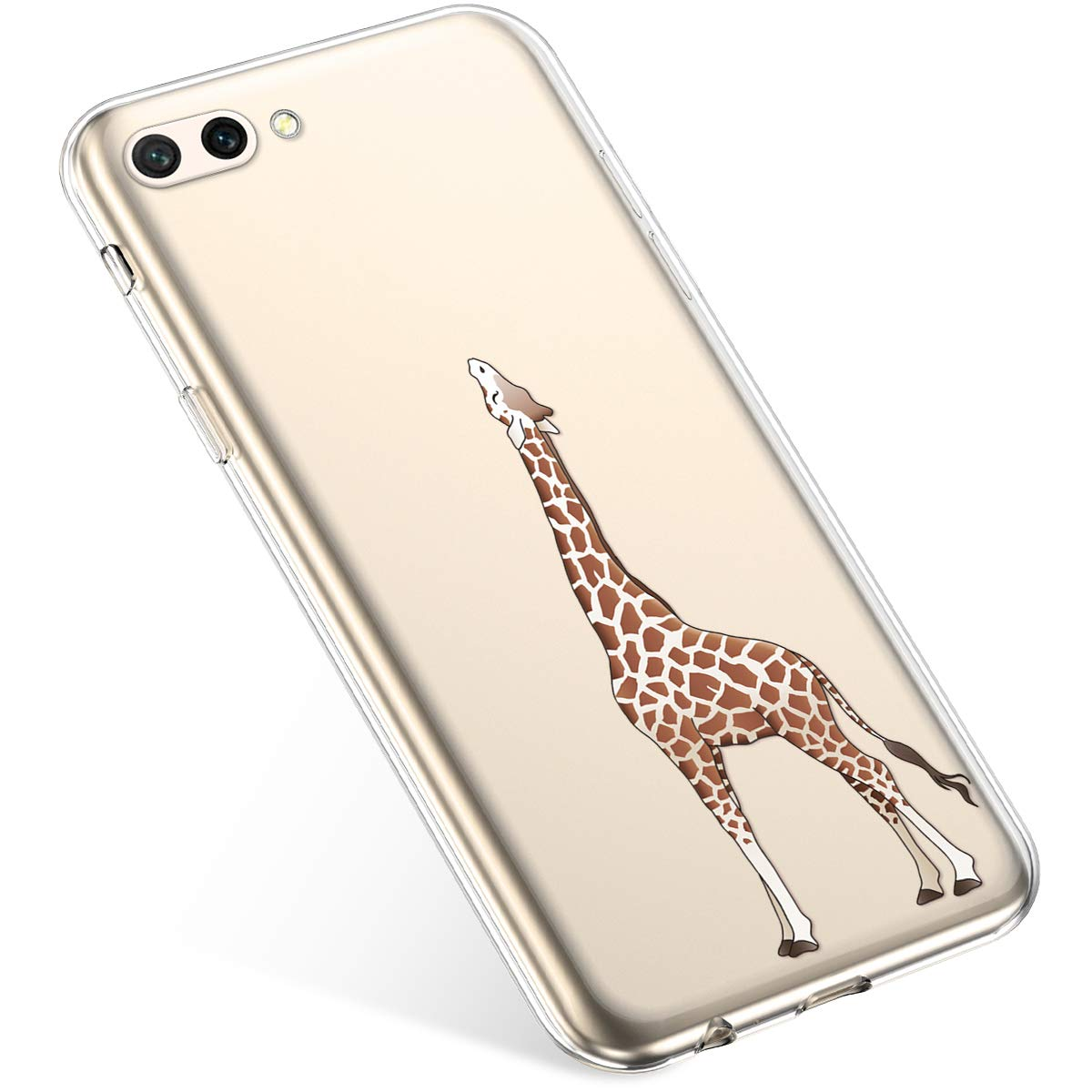 Felfy Funda Compatible con Huawei Honor 10 Carcasa,Compatible con Funda Huawei Honor 10 Transparente Silicona,Moda Pintado Patr/ón Ultra Delgado Anti-Ara/ñazos TPU Case.Panda