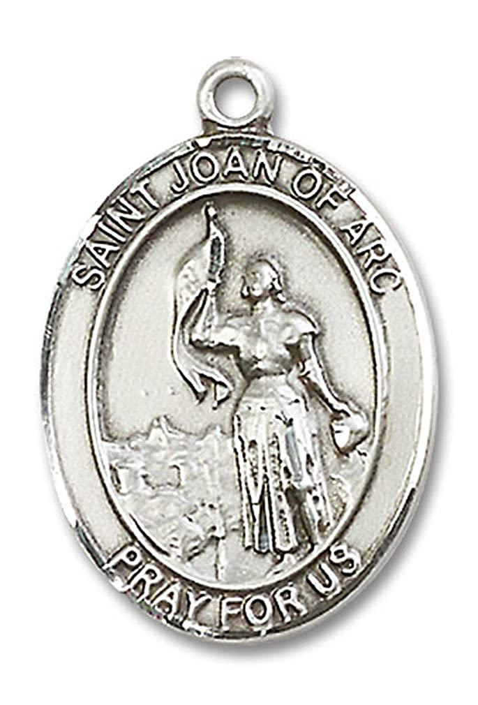 USA Made Chain Choice Heartland Mens Sterling Silver Saint Joan of Arc Air Force Oval Medal