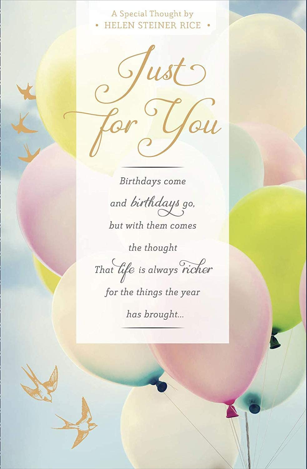for Someone Very Special Birthday Card Helen Steiner Rice