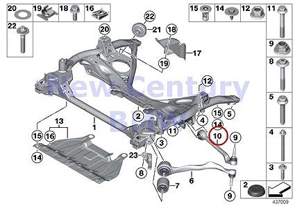 Amazon com: BMW Genuine Front Axle Support Wishbone/Tension