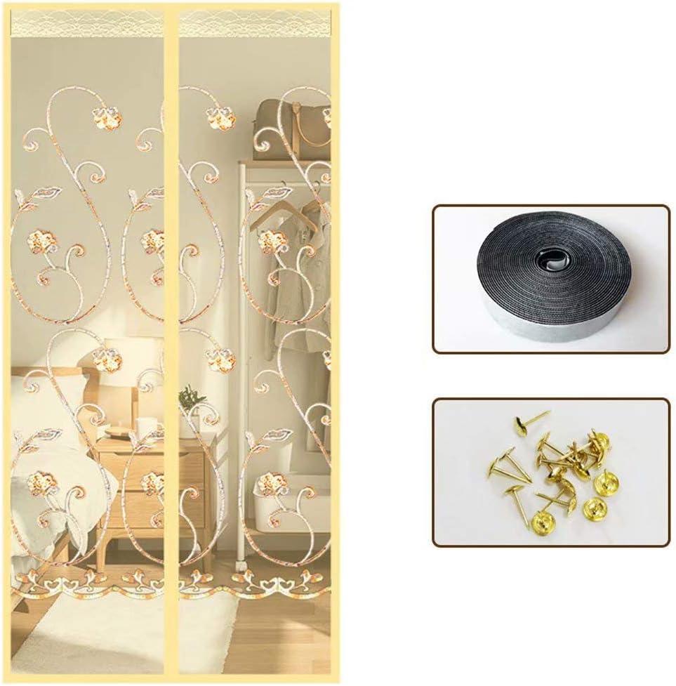 YANKAN Mosquitera magnética para Puerta, Puertas y Patios, Beige A, 100cm x210cm: Amazon.es: Hogar