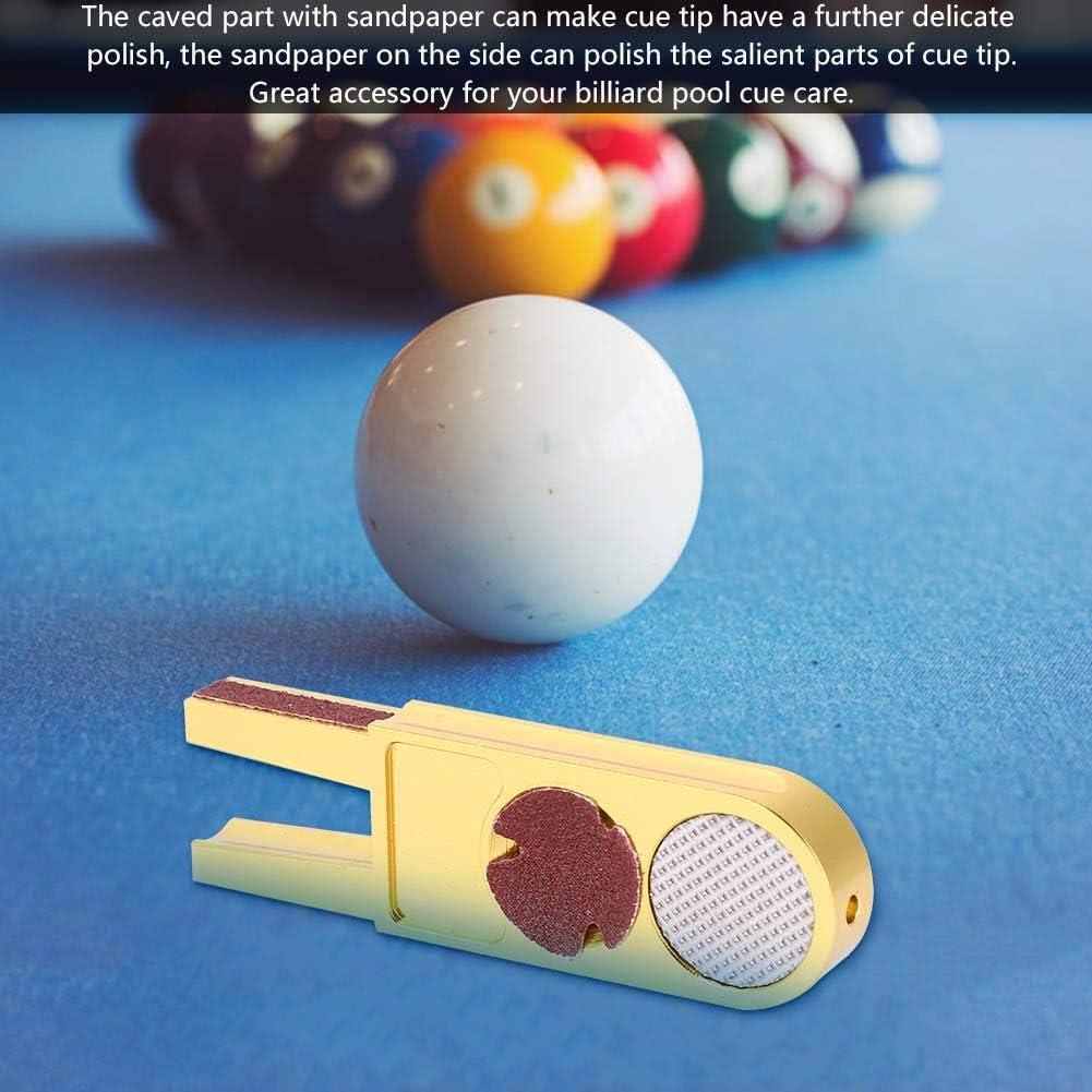 Recortador de Puntas de Billar, Forma de U Billar de Piscina Formador de Punta de Billar Multifunción Pool Snooker Recortador de Punta de Billar Recortador de pulidora Burnisher: Amazon.es: Deportes y aire