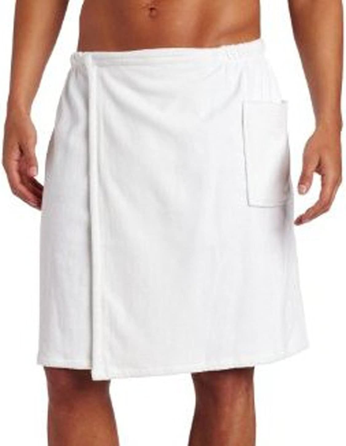 Amazon.com: robesale Terry Shower Bath Towels for Men, One Size, White  Color: Home & Kitchen