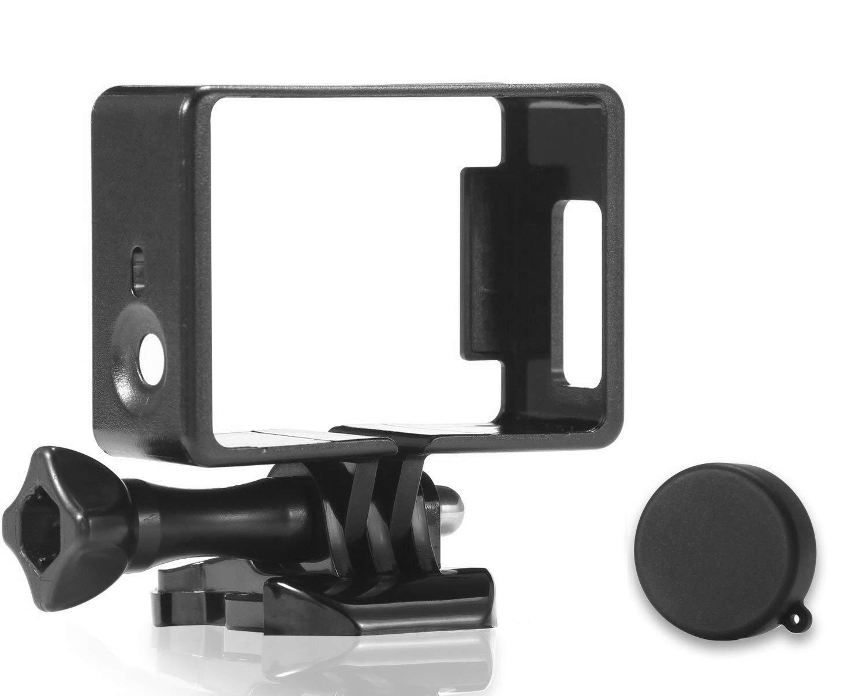 3+ montaje de liberaci/ón r/ápida y tornillo d 4 USB y micro SD Montura protectora de marco con borde protector micros2u/® con acceso completo a puertos de tarjeta HDMI Totalmente compatible con Gopro 3 Incluye tapa protectora de lente