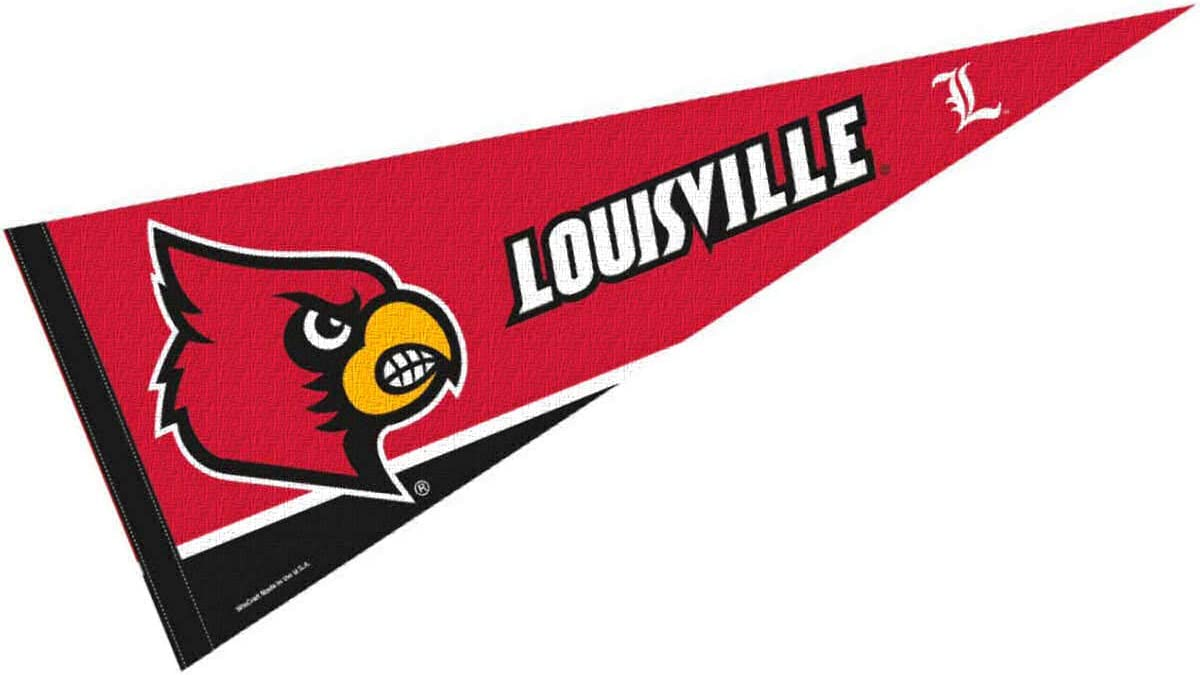 College Flags & Banners Co. Louisville Cardinals Pennant Full Size Felt