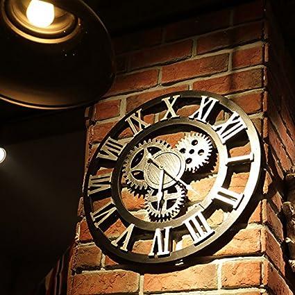 Retro hogar living comedor restaurante reloj reloj forja relojes y creativa tienda barra pared pared decorativo