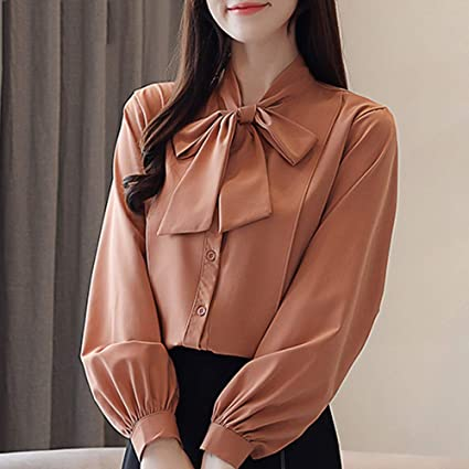 huge discount 6af0c 1a8fe KCMCY Camicette Top E Camicette Donna Camicetta in Chiffon ...
