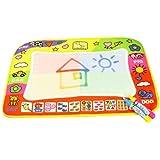 Zolimx Aqua Doodle Children Drawing Toys Mat Magic Pen Educational Toy 1 Mat+ 2 Wate, 45.5 x 29cm