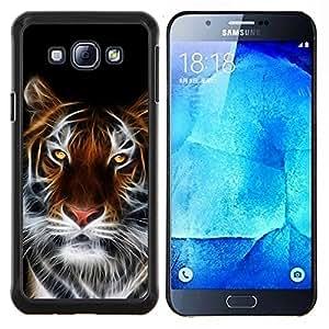 EJOOY---Cubierta de la caja de protección para la piel dura ** Samsung Galaxy A8 A8000 ** --Feroz Tigre Mágico