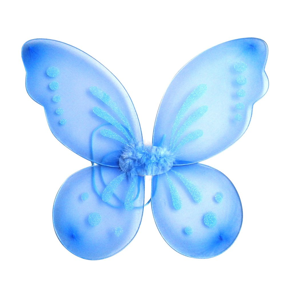 EFINNY Fairy Butterfly Wings Party Favor For Girls Toddlers and Kids (3-10Y) 1-MA0124B