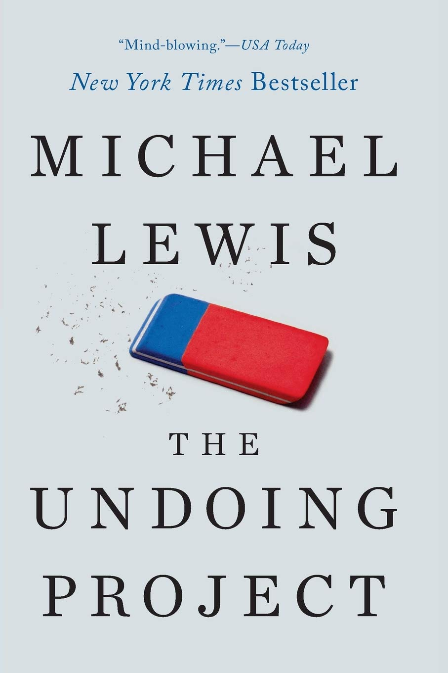 Book cover. The Undoing Project: A Friendship That Changed Our Minds, by Michael Lewis