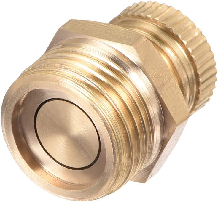 Air Compressor Tank Drain Valve Switch Plug Screw Brass with T-handle Home