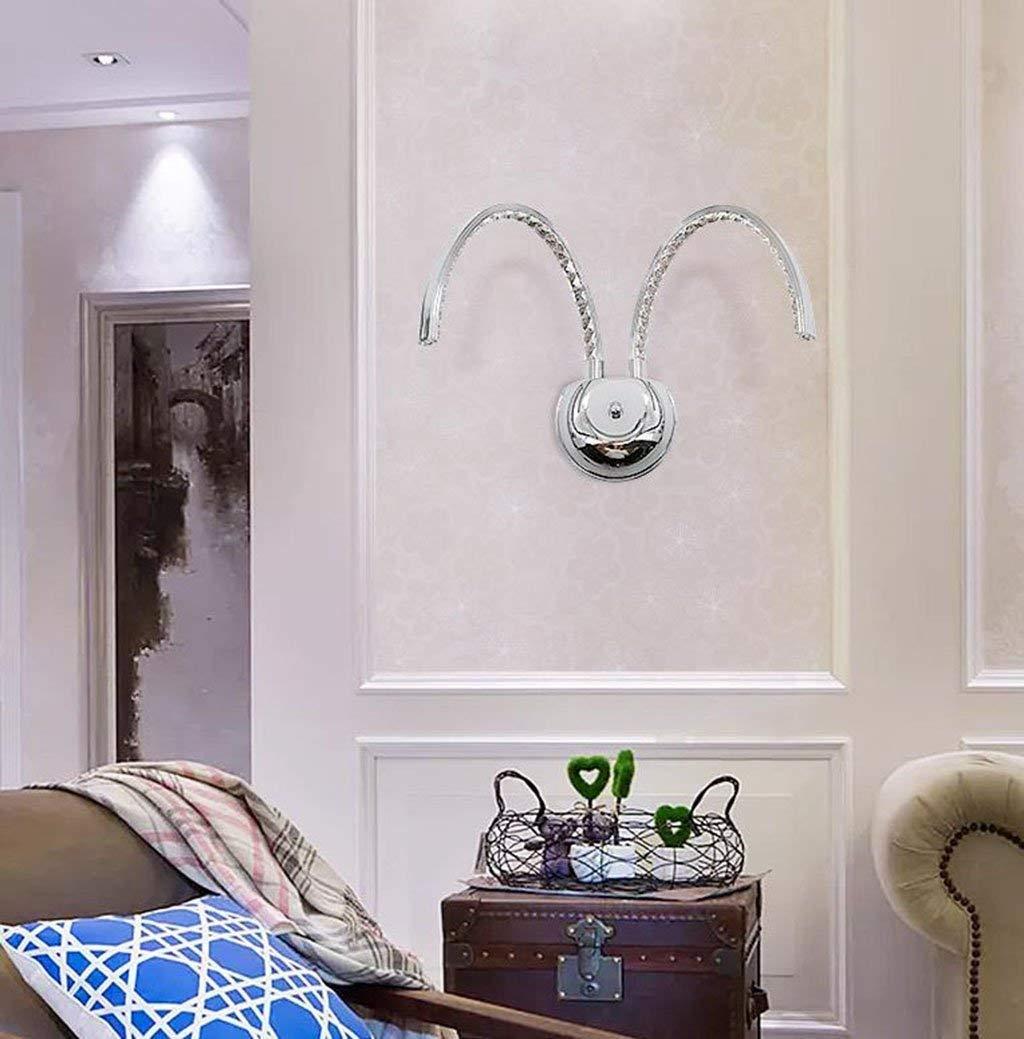 MJK Europäische und amerikanische LED-Leuchten,Gebogene doppelköpfige kreative Wandlampe, Wohnzimmer-Persönlichkeit, die Wandlampe beleuchtet