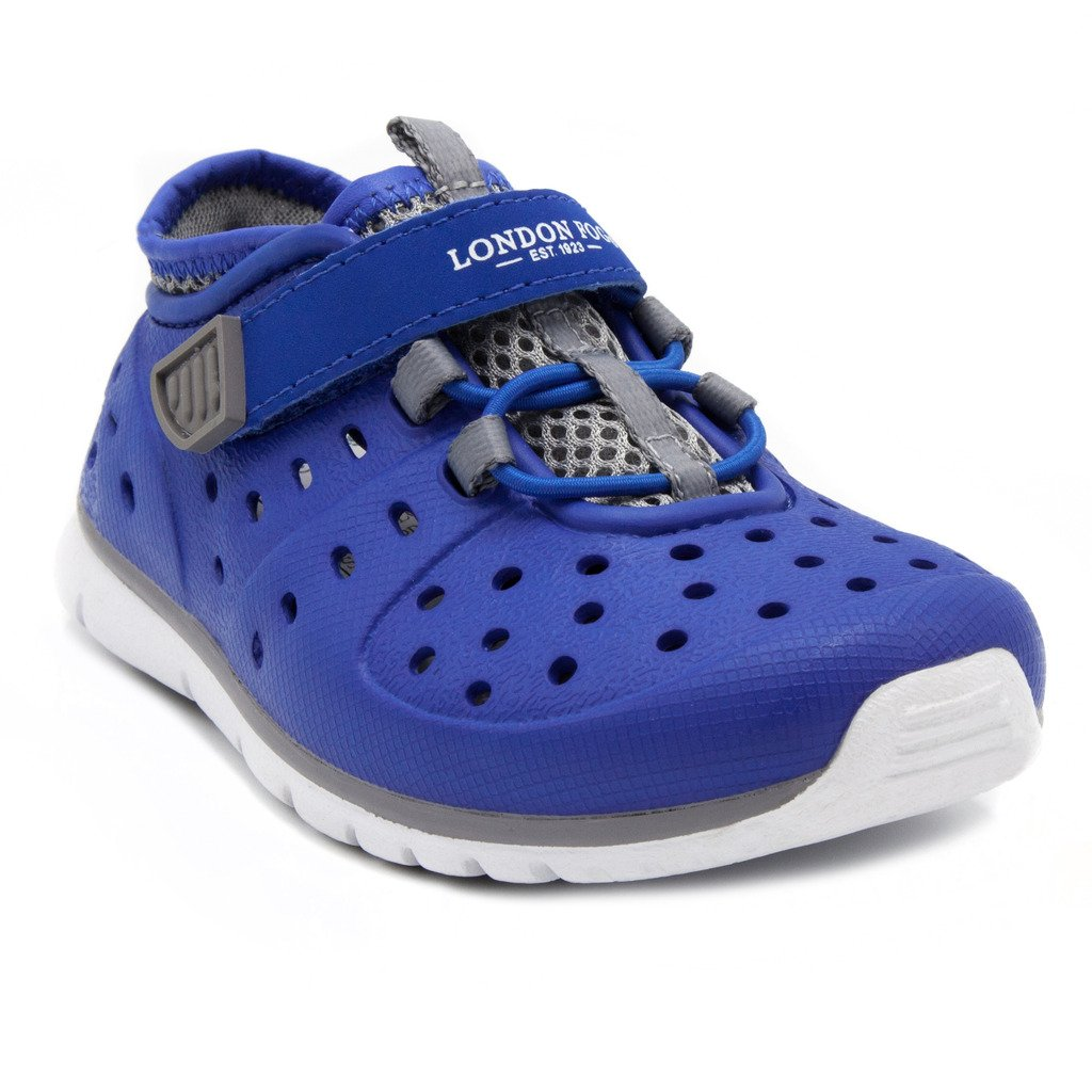 London Fog Mud Puppies from Pool to Play Sneaker Sandal Water Shoes Blue/Grey 7