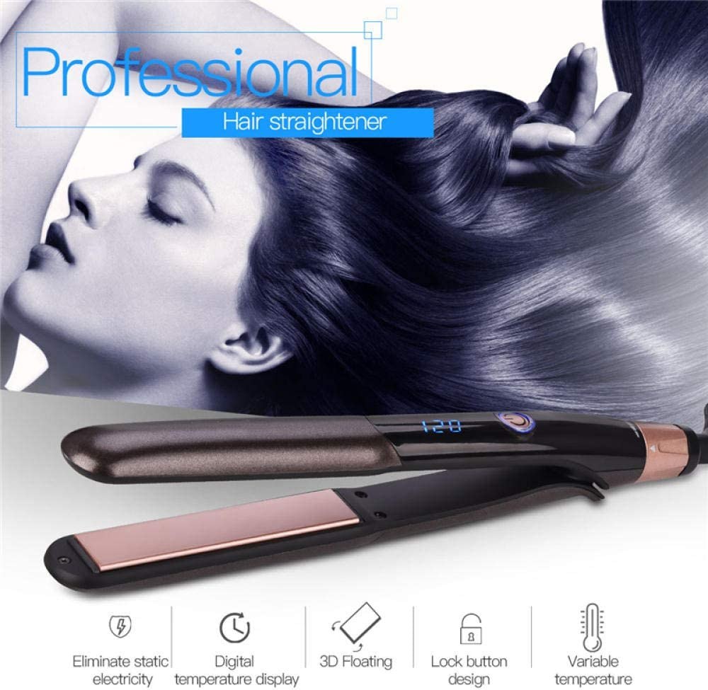 Thermostatic Straightener Tourmaline Ceramic Flat Iron PTC
