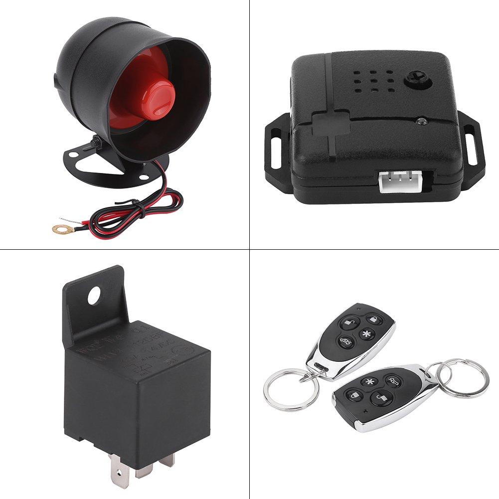 Sistema de alarma para automóvil, entrada sin llave del sistema de protección de seguridad de alarma de automóvil universal con 2 controles remotos ...