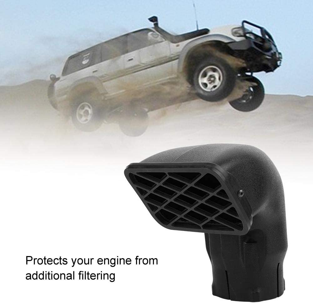 Air Intake Kit Universal 3.5in Lldpe Car Mudding Snorkel Head Replacement Dust Collector Inlet