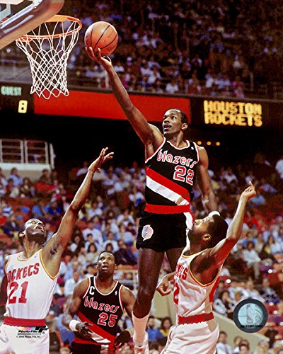 Clyde Drexler Portland Trail Blazers NBA Action Photo (Size: 8