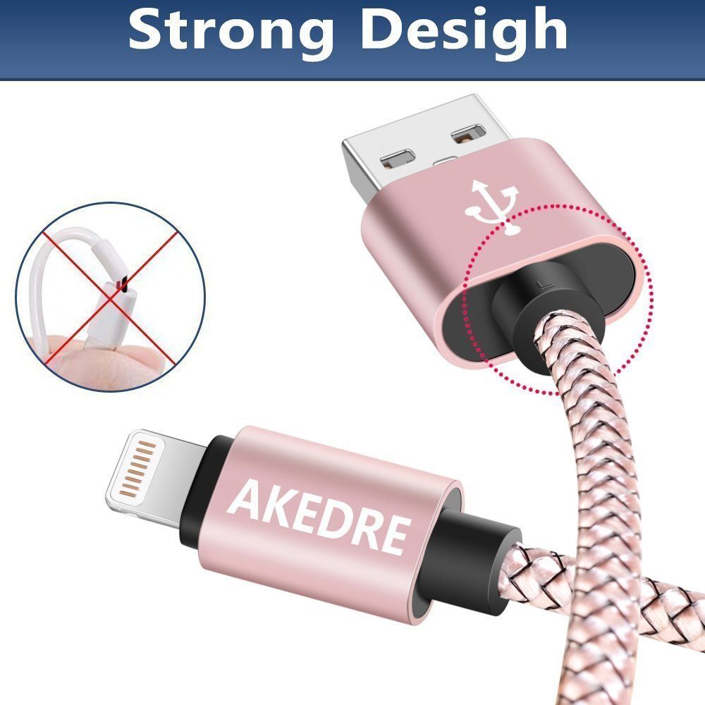 4 Pack Phone Cables 10FT 6FT 3FT 1FT Nylon USB Charging /& Syncing Cord Charger Compatible with Phone X 8//7//6s//6//Plus//5se//5s//5c//5 and More /…