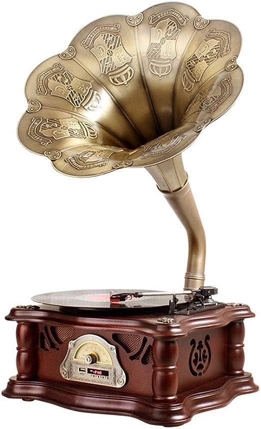 LY-Gramófono Fonógrafo Decoración del Hogar Clásico del Tocadiscos ...