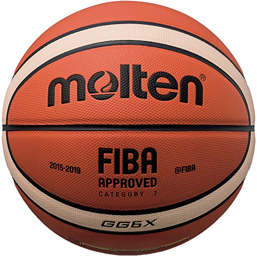 Molten Composite Basketball, Orange/Tan, Intermediate Size 6