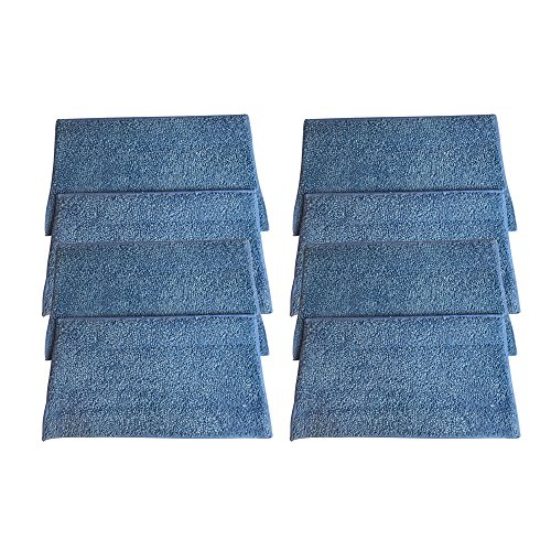 8 Replacements for HAAN Microfiber Steam Pads Fit HAAN Steam Mops & Floor Sanitizer, Compatible With Part #  & RMF-4, Washable & Reusable - Think Crucial RMF2, RMF2P, RMF2X, RMF4X, RMF4