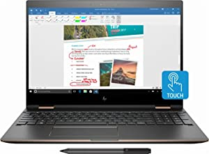 "HP Spectre x360-15t Quad Core(8th Gen Intel i7-8550U, 16GB RAM, 512G PCIe NVMe SSD, 4K IPS micro-edge Corning Gorilla, Windows 10)Bang & Olufsen 15.6"" 2-in-1 Convertible Dark Ash + HP Warranty"