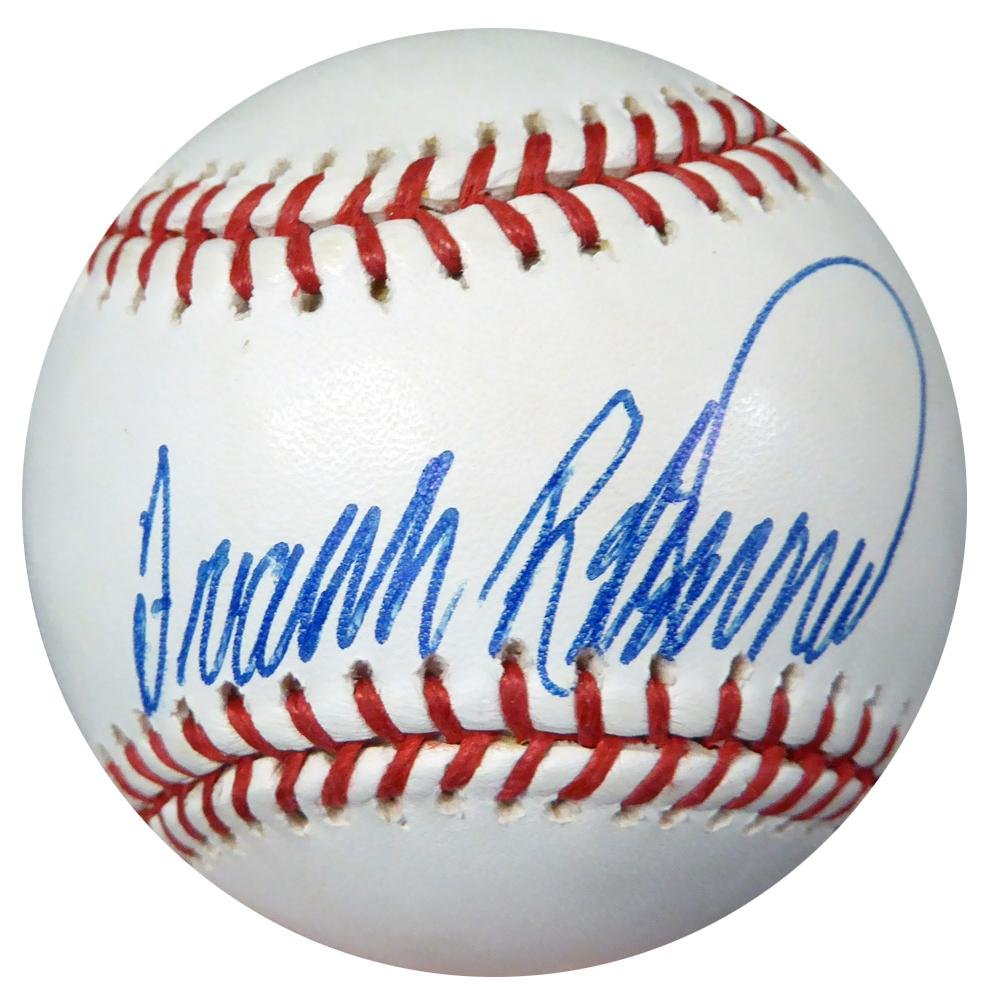 Signed Frank Robinson Baseball - Official Reds #AB50723 - PSA/DNA Certified - Autographed Baseballs Mill Creek Sports