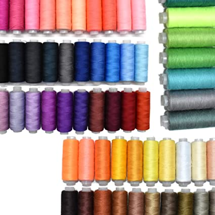 24 COLOR SPOOLS FINEST QUALITY SEWING ALL PURPOSE 100/% PURE COTTON THREAD REEL