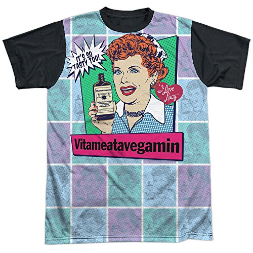 Lucille Ball I Love Lucy Comedian Icon Vitameatavegamin Adult Black Back - Icon Lucy