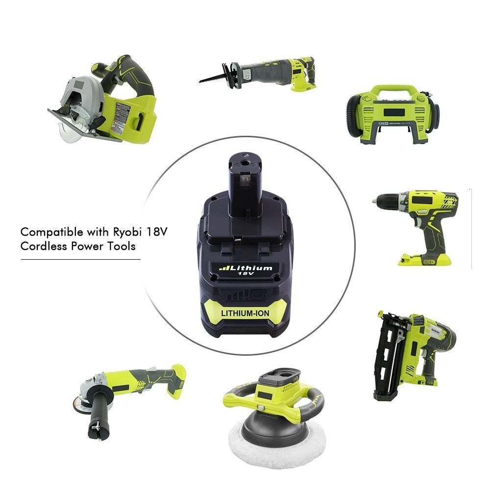 Dosctt P108 4.0Ah Replace for Ryobi 18V Battery 18 Volt One Plus P102 P103 P104 P105 P107 P109 Cordless Tool with LED Indicator by Dosctt (Image #6)